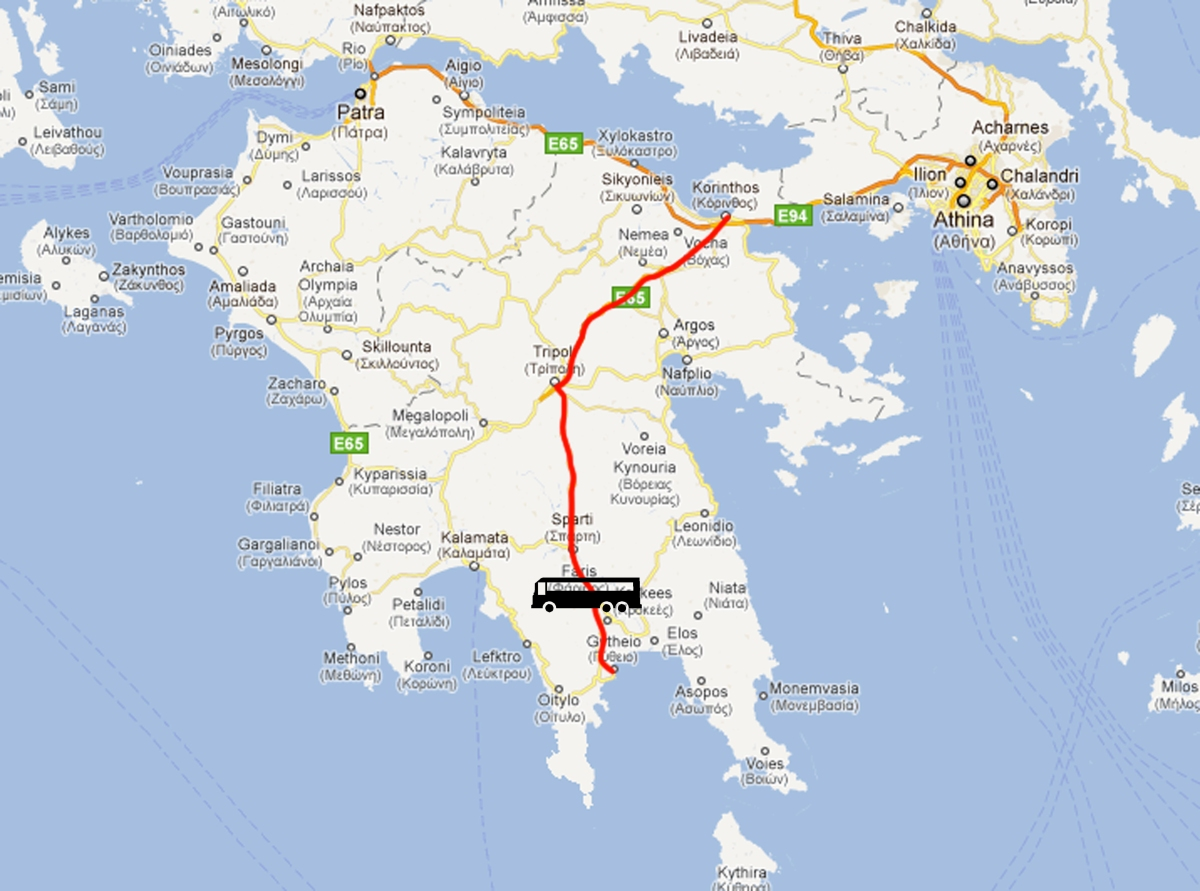 Gytheio to Corinth