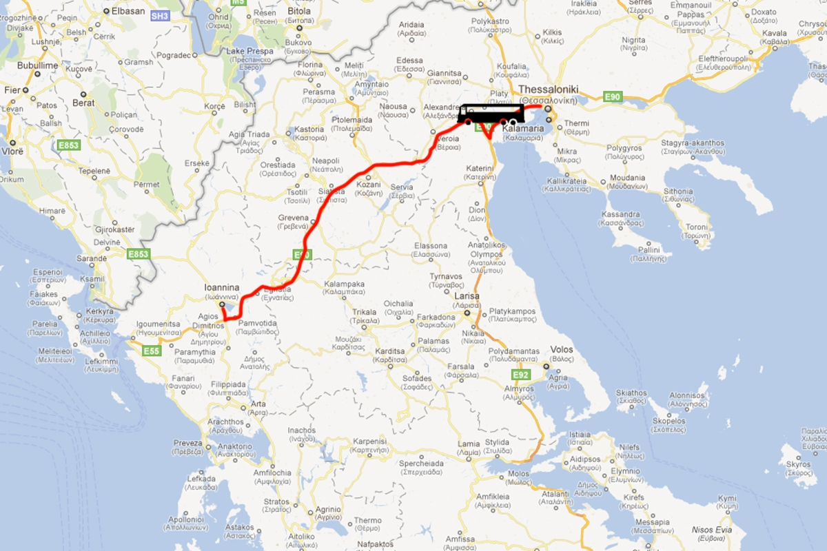 Thessaloniki to Ioannina