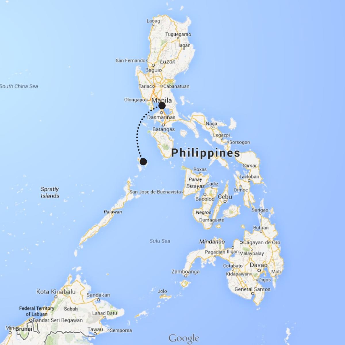 Coron to Manila