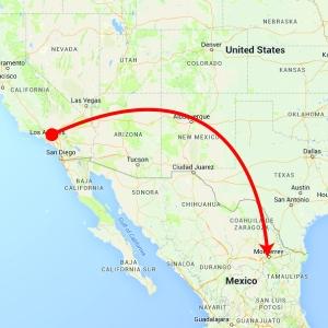 Flight from LA to Monterrey - 3 Hours